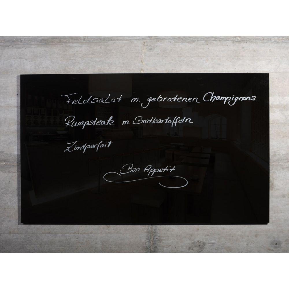 raum-blick Glas Magnetwand MAX 100x60 cm schwarz M3-S