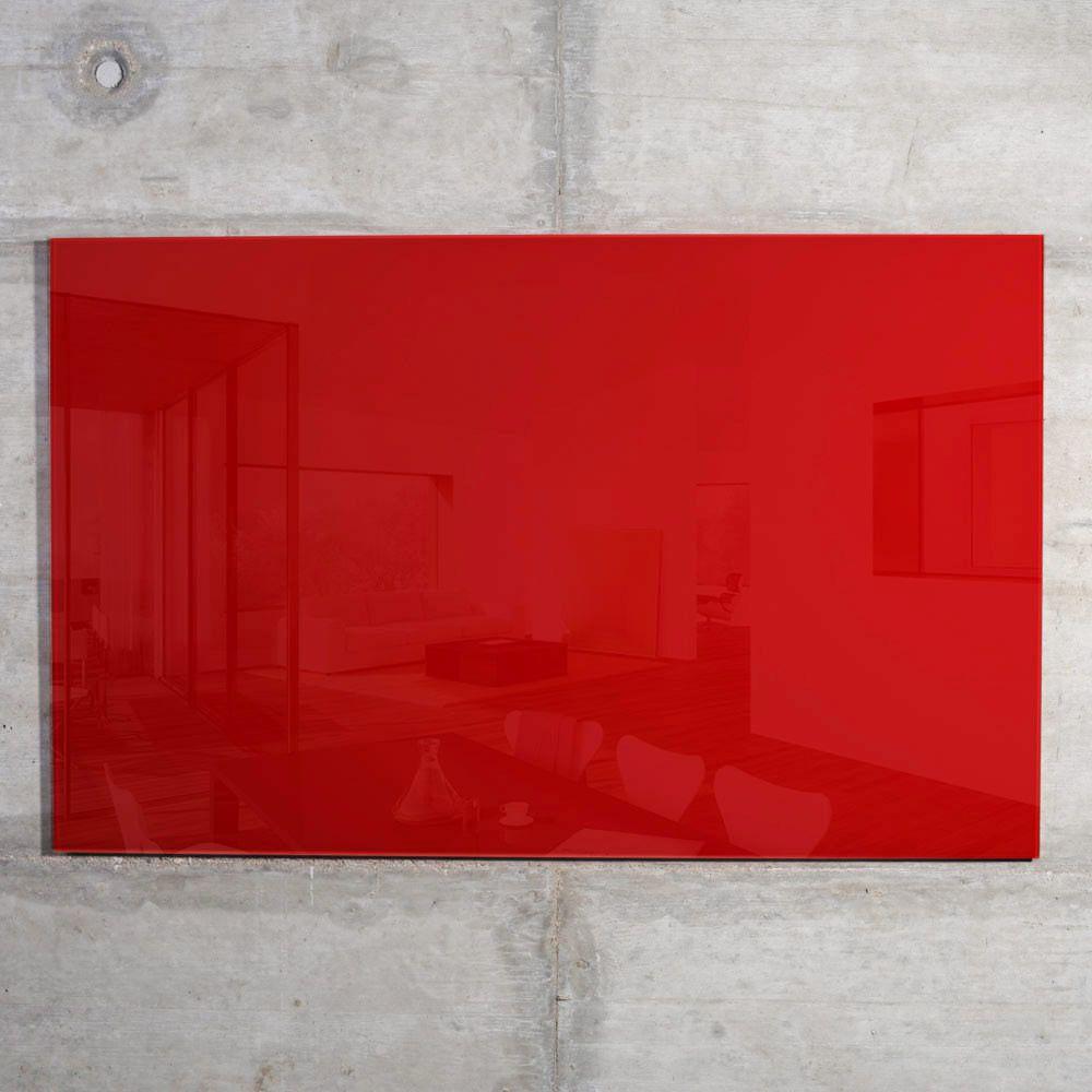 raum-blick Glas Magnetwand MAX 60x40 cm rot M10-R-2