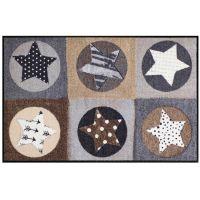 Salonlöwe - Stars Karo nature Fußmatte