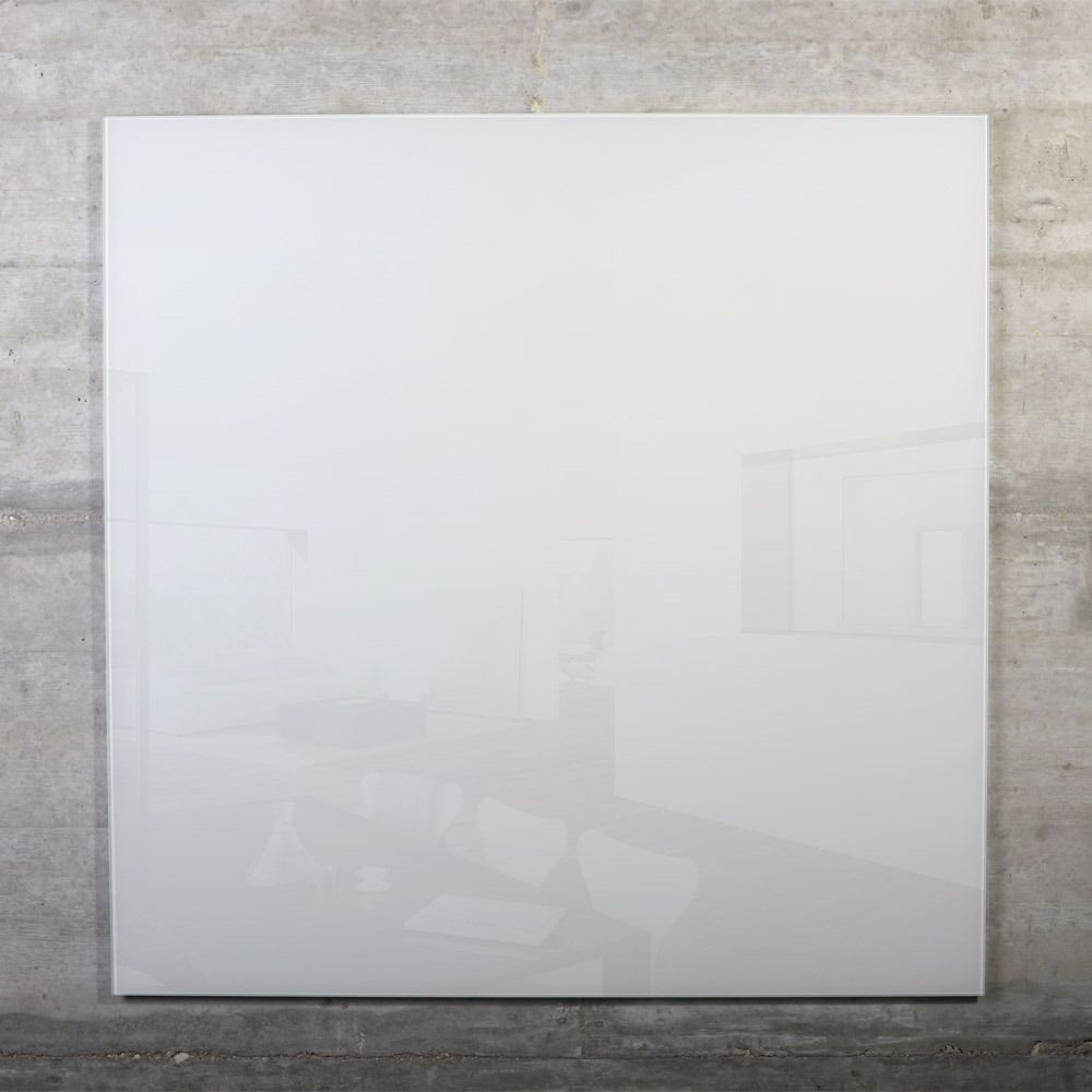 raum-blick Glas Magnetwand MAX 80x80 cm weiss M8-W-3