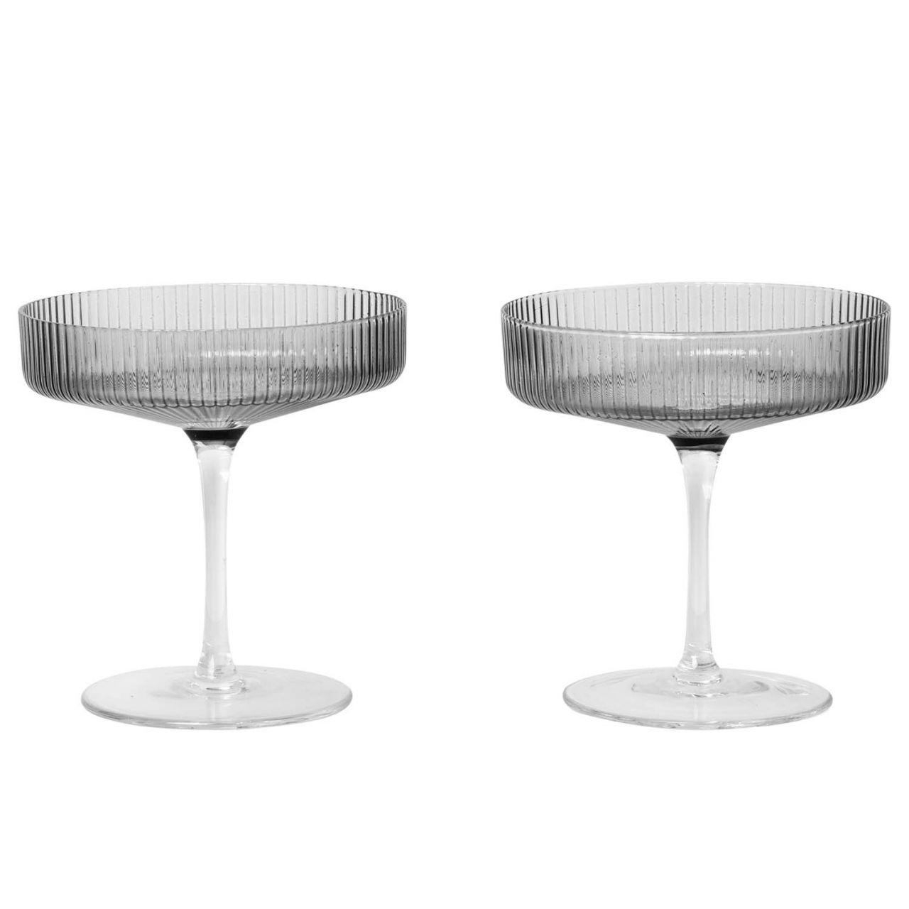 ferm Living - Ripple Champagnerschalen (2er Set) 100126112