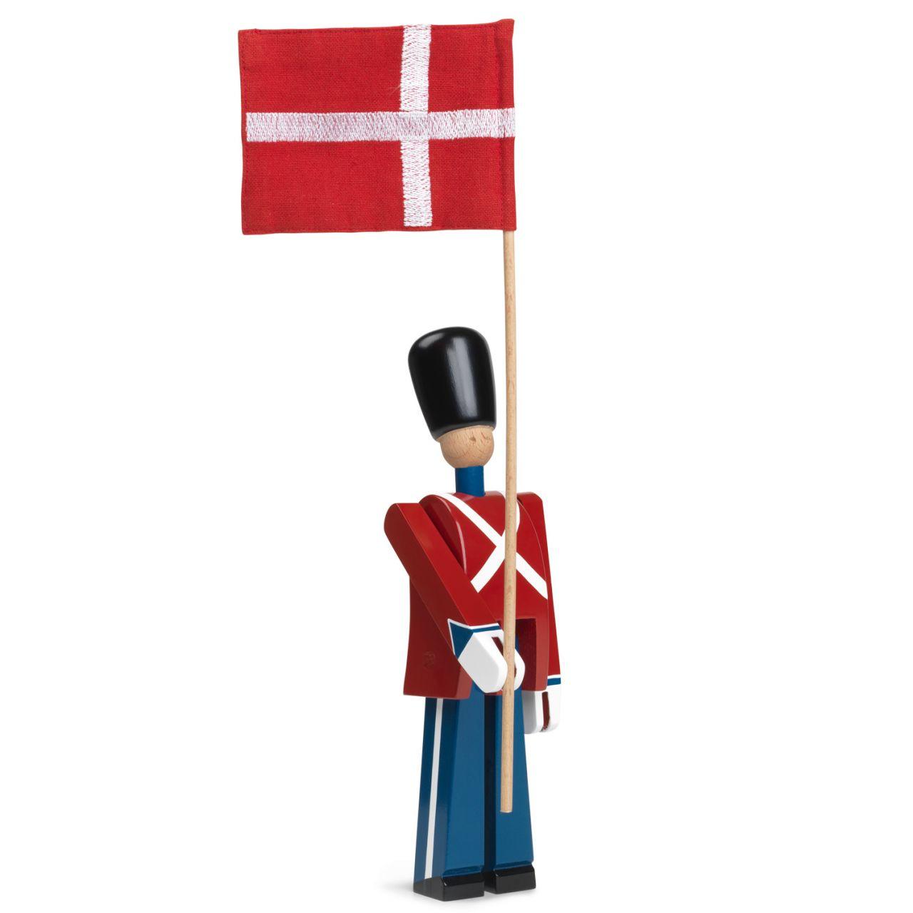 Kay Bojesen - Fahnenträger mit Textil-Flagge 39482